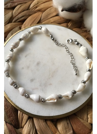 My Joyas Design Minik İstiridye Sıralı Halhal Gümüş